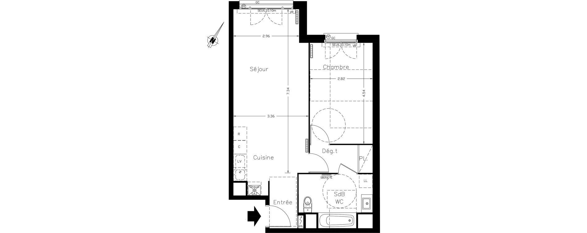 Appartement T2 de 51,38 m2 à Clamart Le petit clamart
