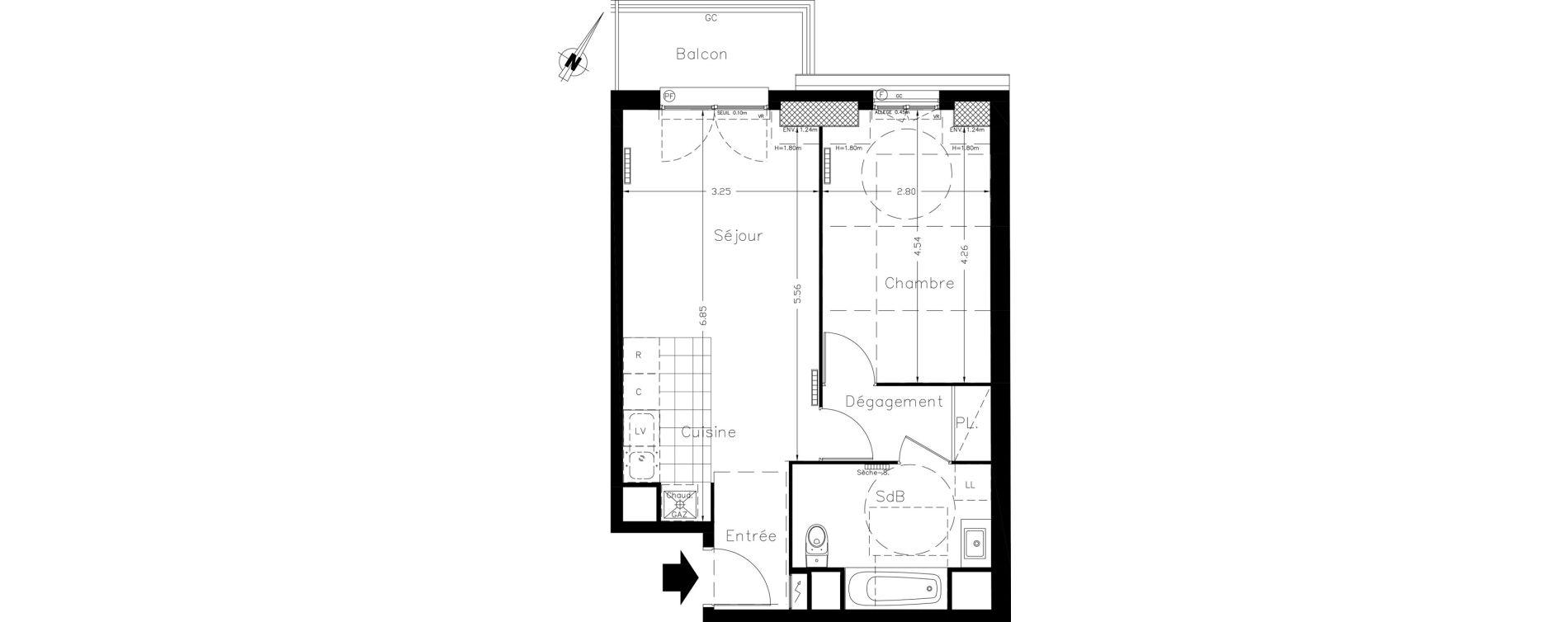 Appartement T2 de 46,10 m2 à Clamart Le petit clamart