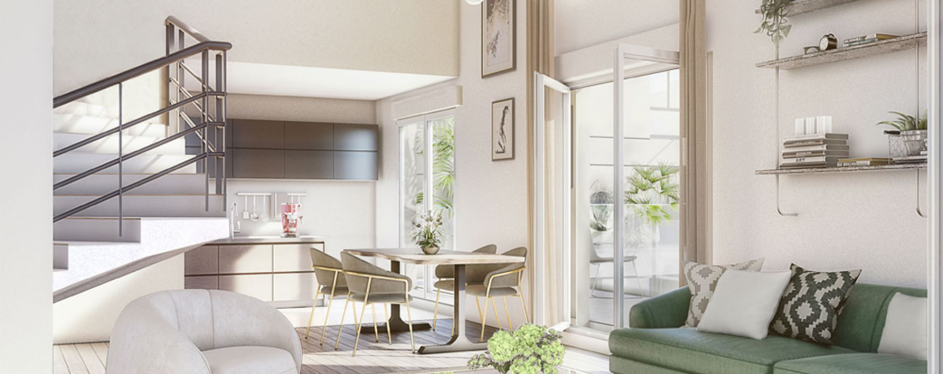 Clichy : programme immobilier neuve « Atrium City 2 » en Loi Pinel (3)