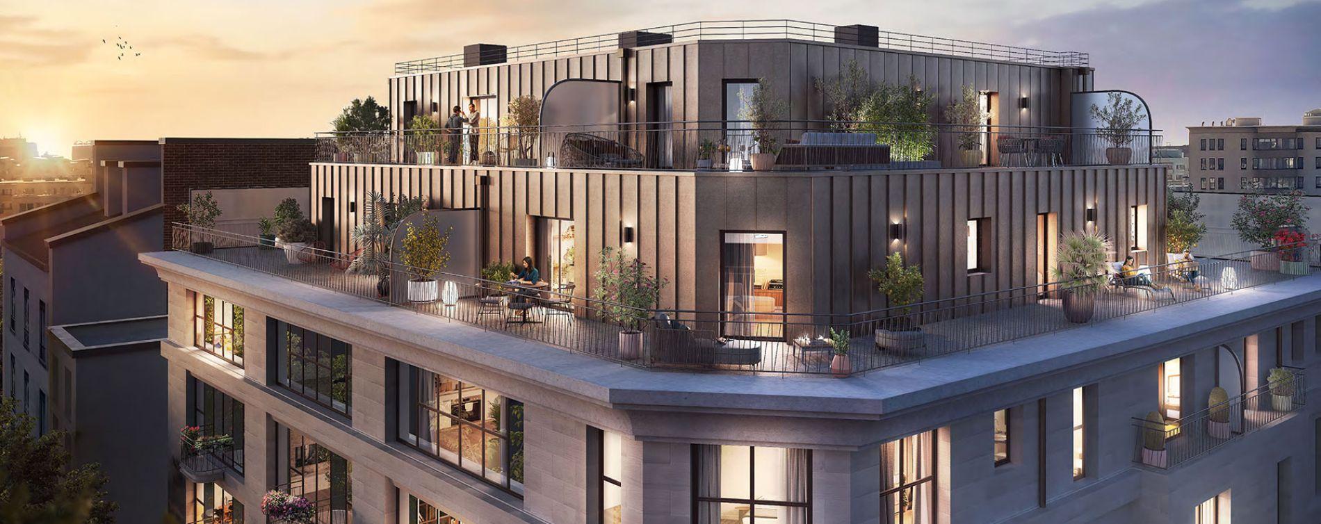 Clichy : programme immobilier neuve « Le 15 » en Loi Pinel