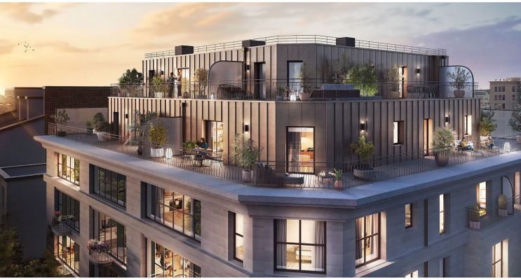 Clichy : programme immobilier neuf « Le 15 » en Loi Pinel