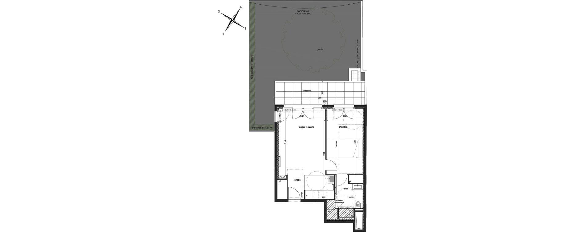 Appartement T2 de 48,71 m2 à Clichy Mairie de clichy