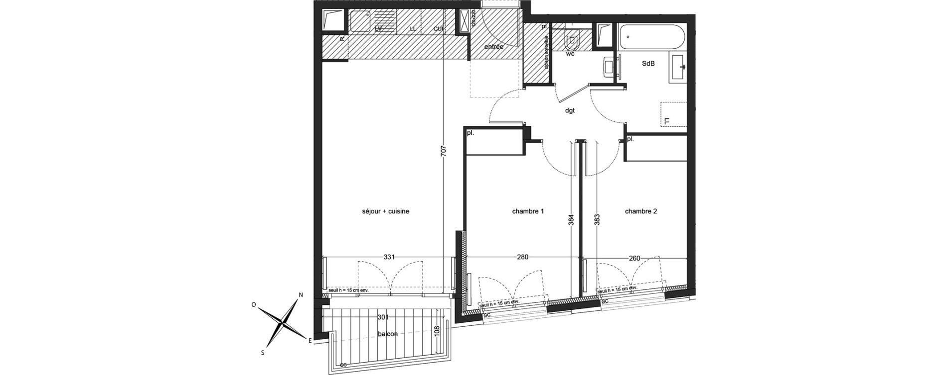 Appartement T3 de 59,98 m2 à Clichy Mairie de clichy