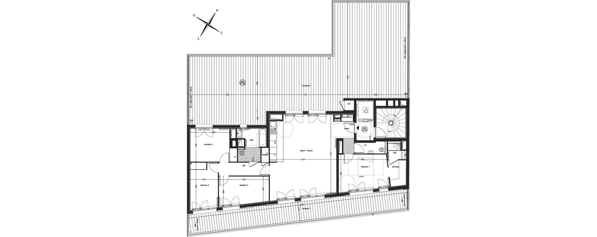 Appartement T5 de 121,43 m2 à Clichy Mairie de clichy
