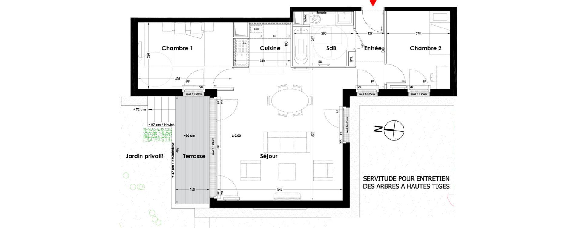 Appartement T3 de 66,90 m2 à Garches Garches buzenval