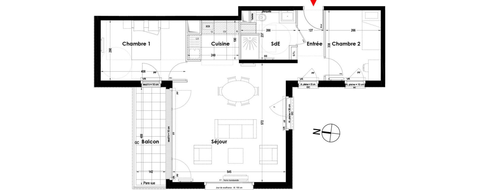 Appartement T3 de 66,50 m2 à Garches Garches buzenval