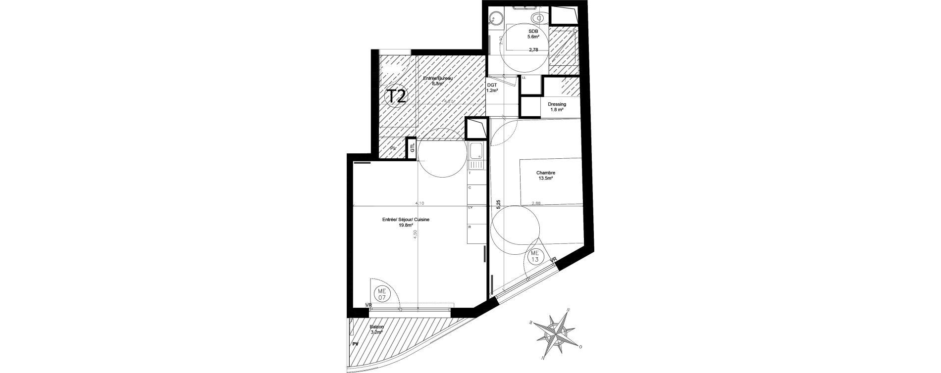 Appartement T2 de 50,50 m2 à Issy-Les-Moulineaux Chemin des vignes