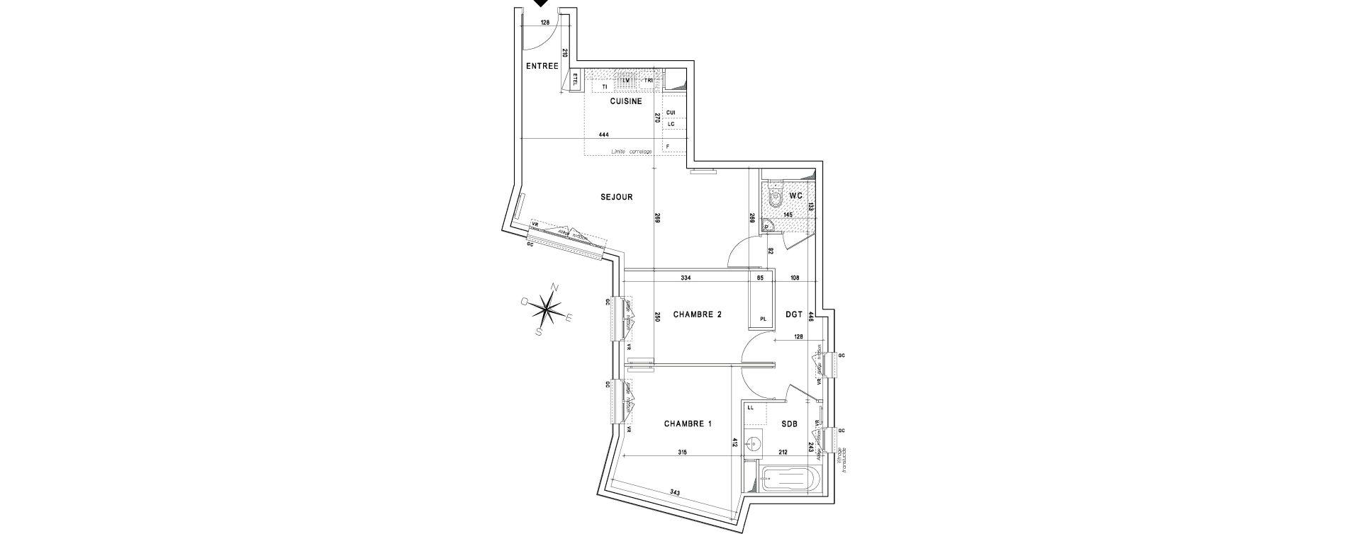 Appartement T3 de 63,18 m2 à La Garenne-Colombes Centre