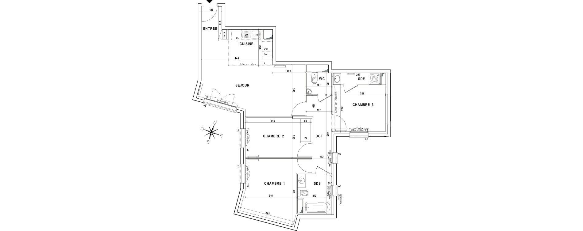 Appartement T4 de 76,96 m2 à La Garenne-Colombes Centre