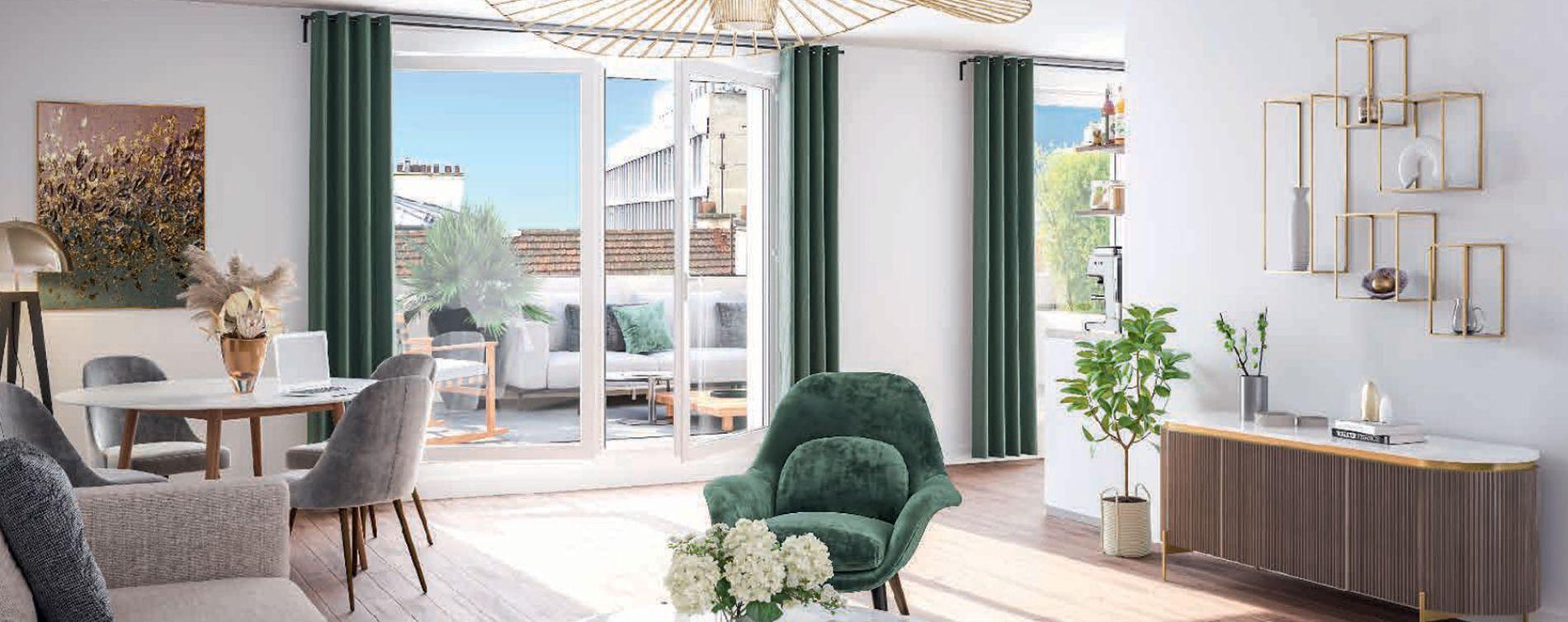 Levallois-Perret : programme immobilier neuve « 45 Chaptal » en Loi Pinel (3)