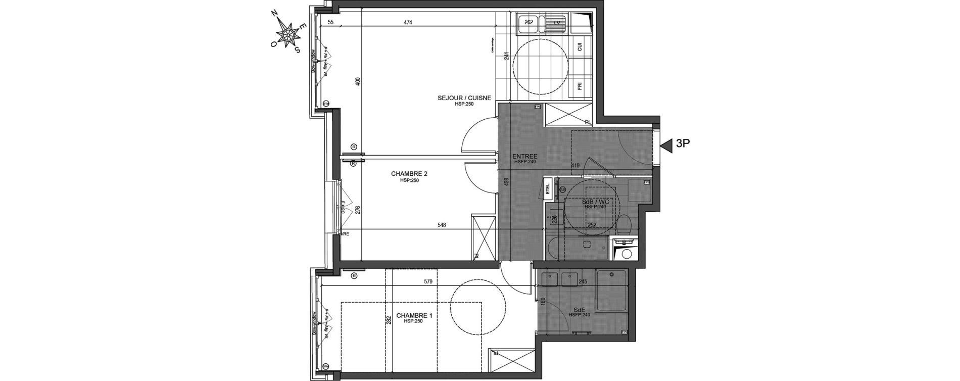 Appartement T3 de 70,02 m2 à Neuilly-Sur-Seine Centre