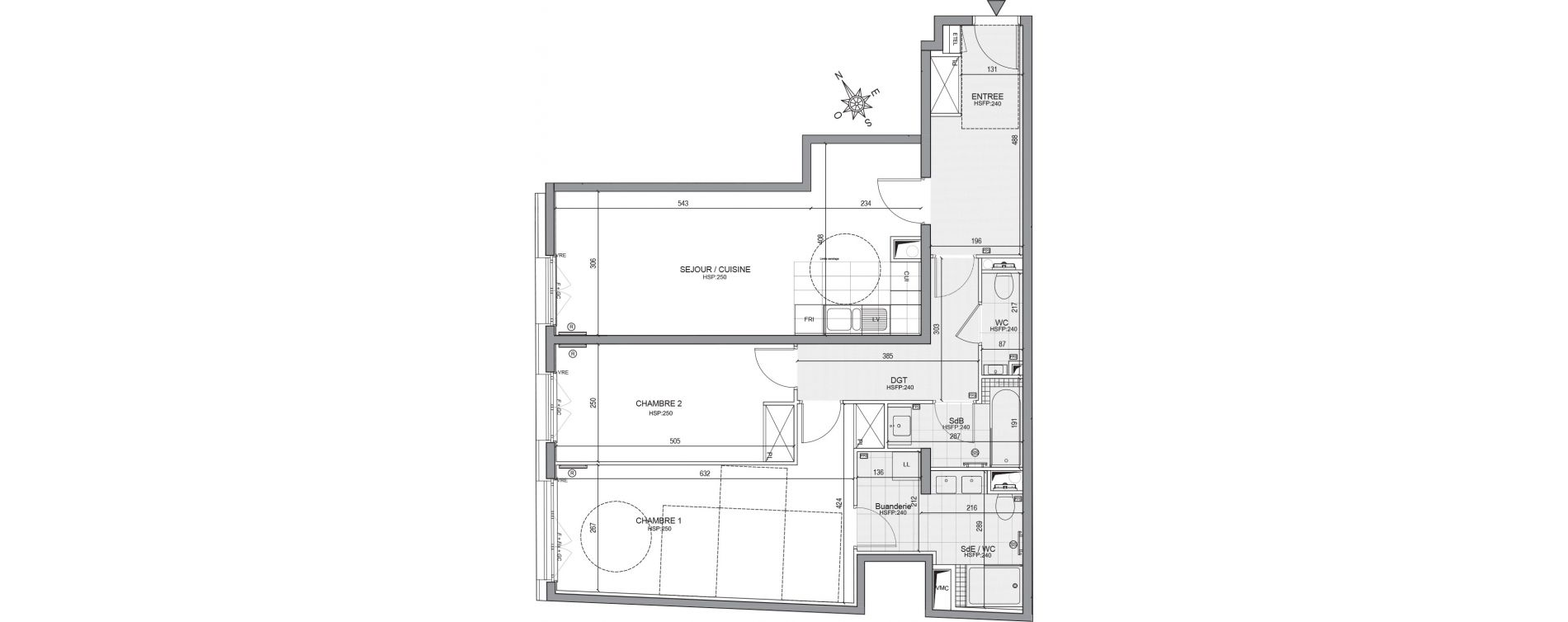 Appartement T3 de 86,70 m2 à Neuilly-Sur-Seine Centre