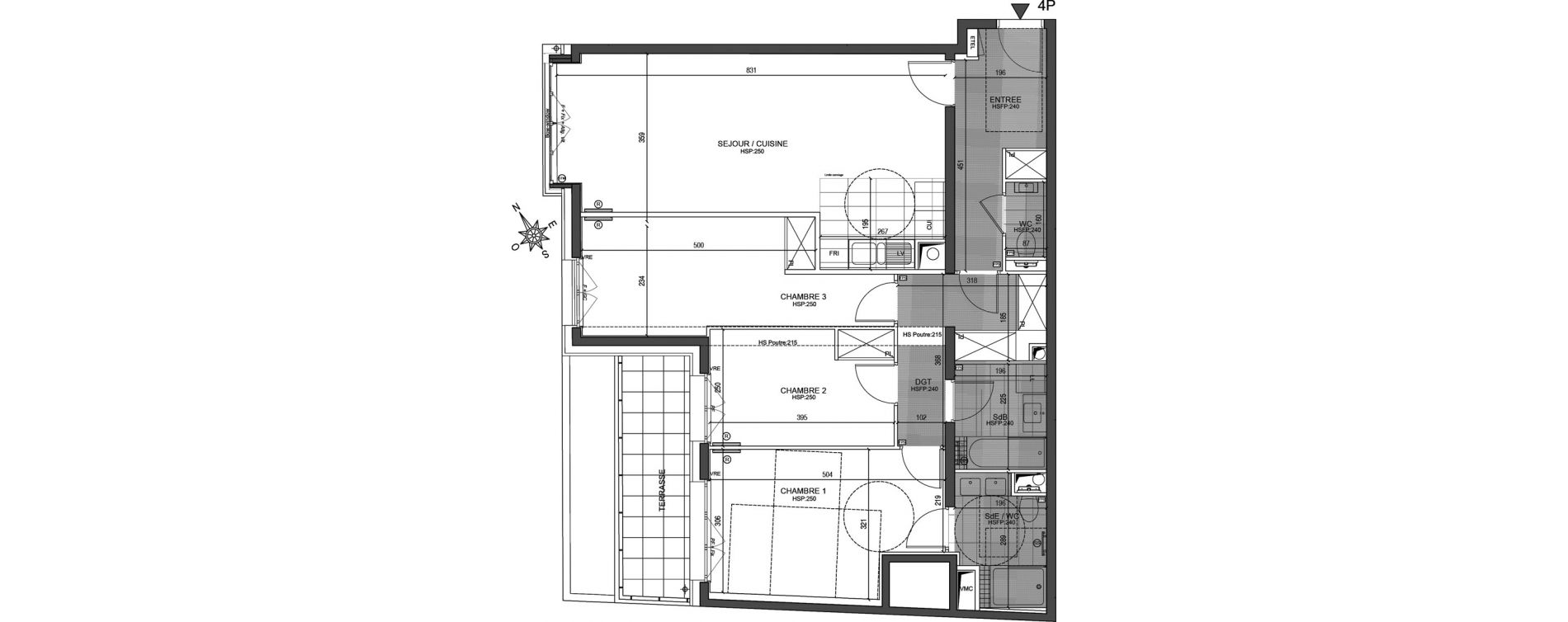 Appartement T4 de 93,81 m2 à Neuilly-Sur-Seine Centre
