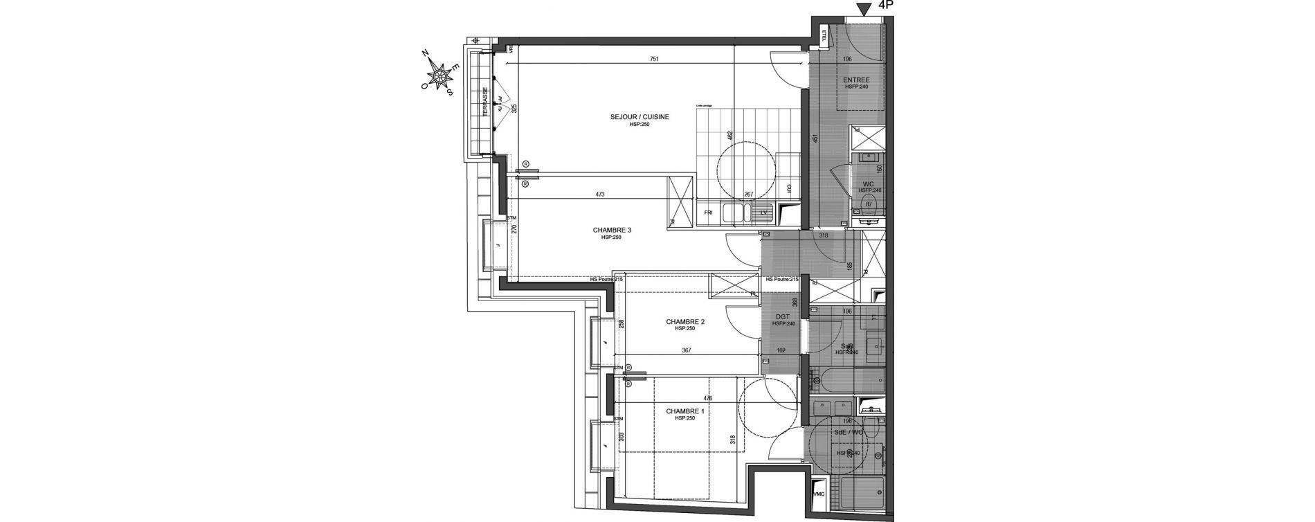 Appartement T4 de 89,20 m2 à Neuilly-Sur-Seine Centre