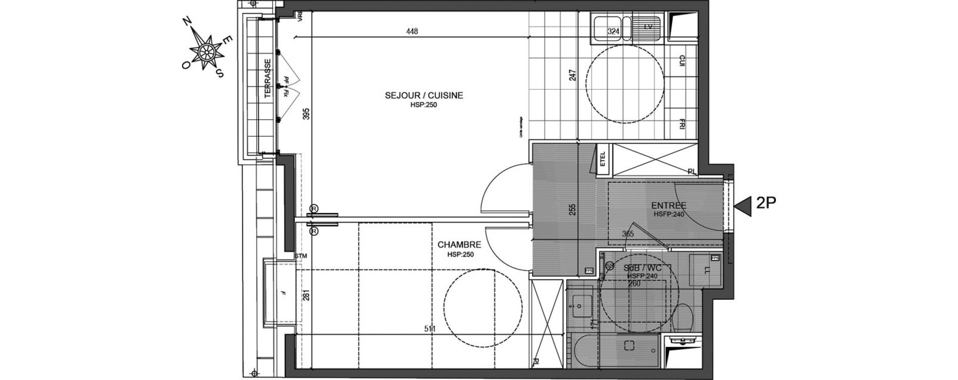 Appartement T2 de 51,34 m2 à Neuilly-Sur-Seine Centre