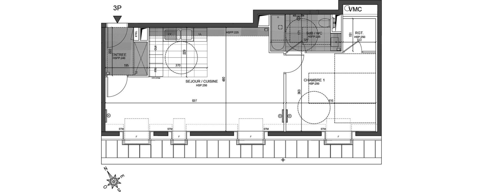Appartement T2 de 56,02 m2 à Neuilly-Sur-Seine Centre
