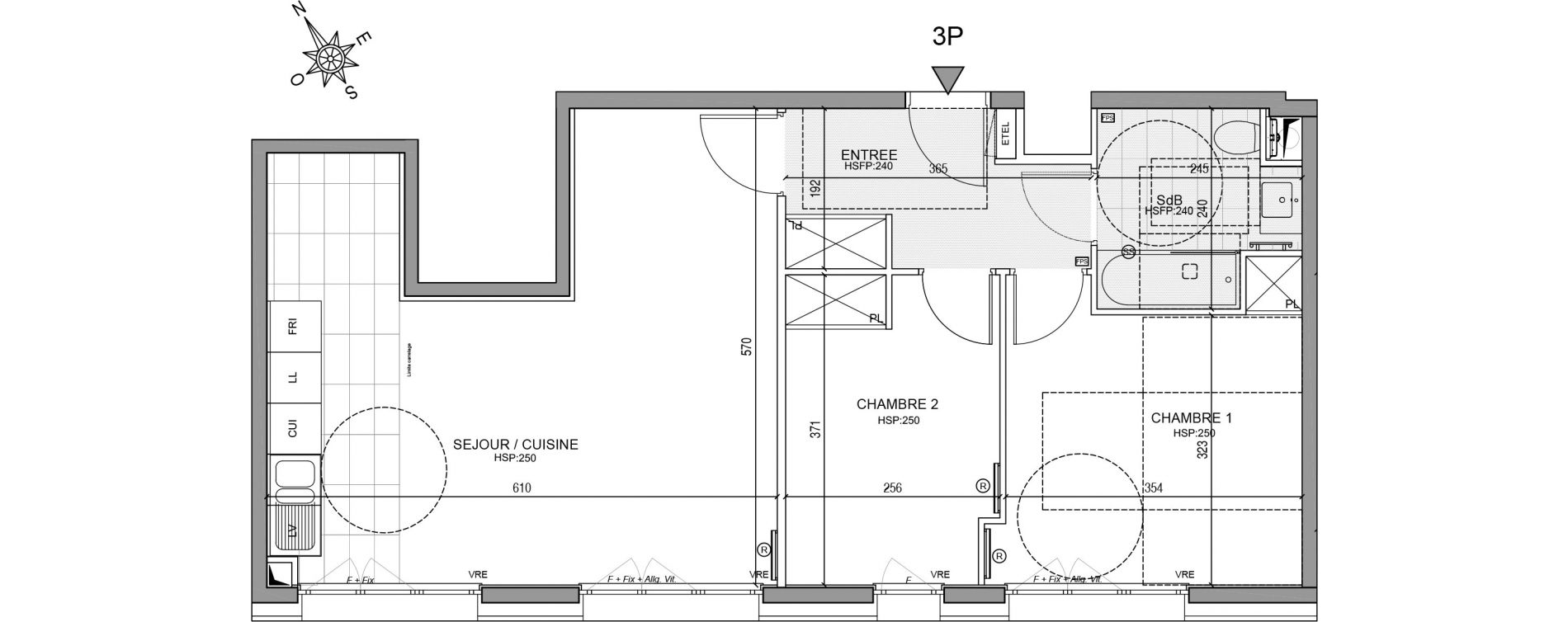 Appartement T3 de 61,37 m2 à Neuilly-Sur-Seine Centre