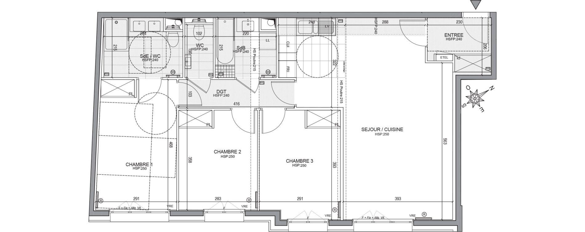 Appartement T4 de 87,59 m2 à Neuilly-Sur-Seine Centre