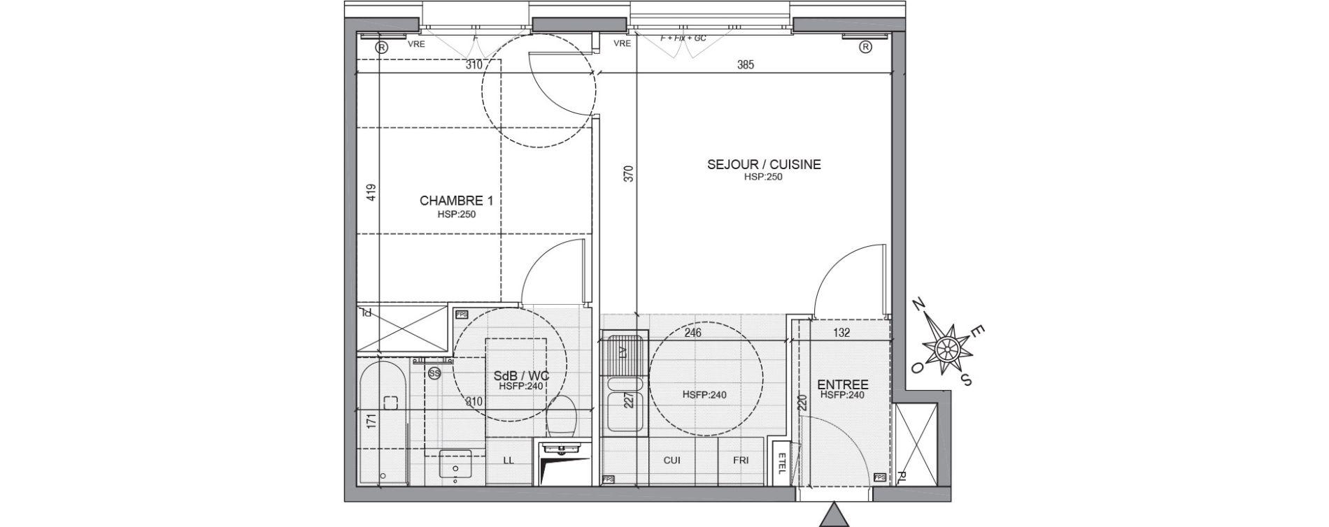 Appartement T2 de 40,56 m2 à Neuilly-Sur-Seine Centre