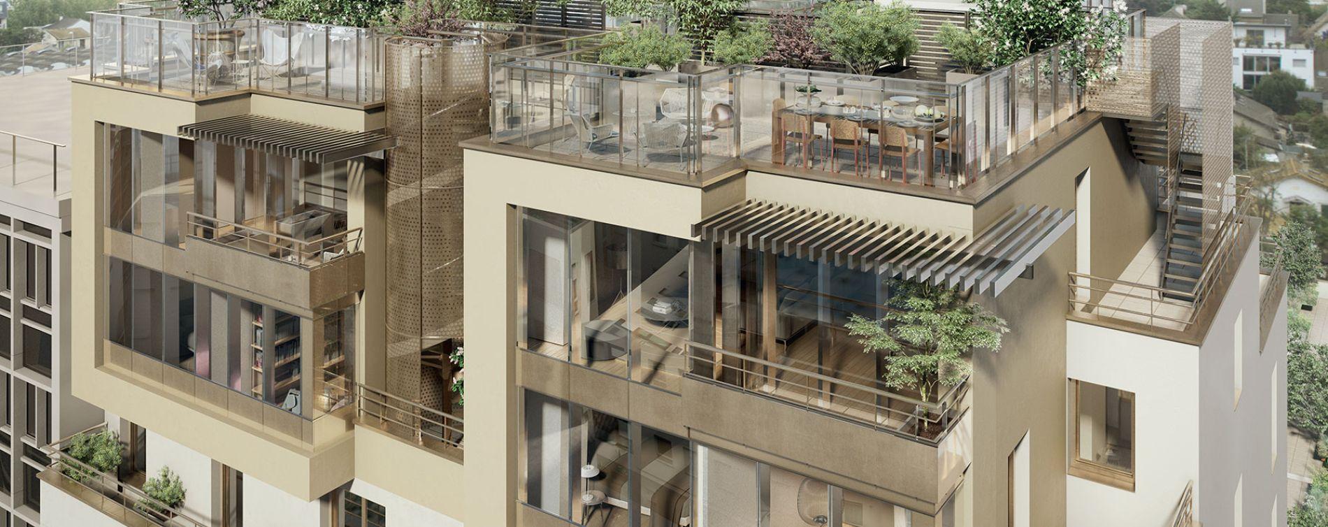 Rueil-Malmaison : programme immobilier neuve « Connexion » (2)