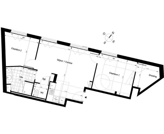 Plan T3 neuf à Rueil-Malmaison de