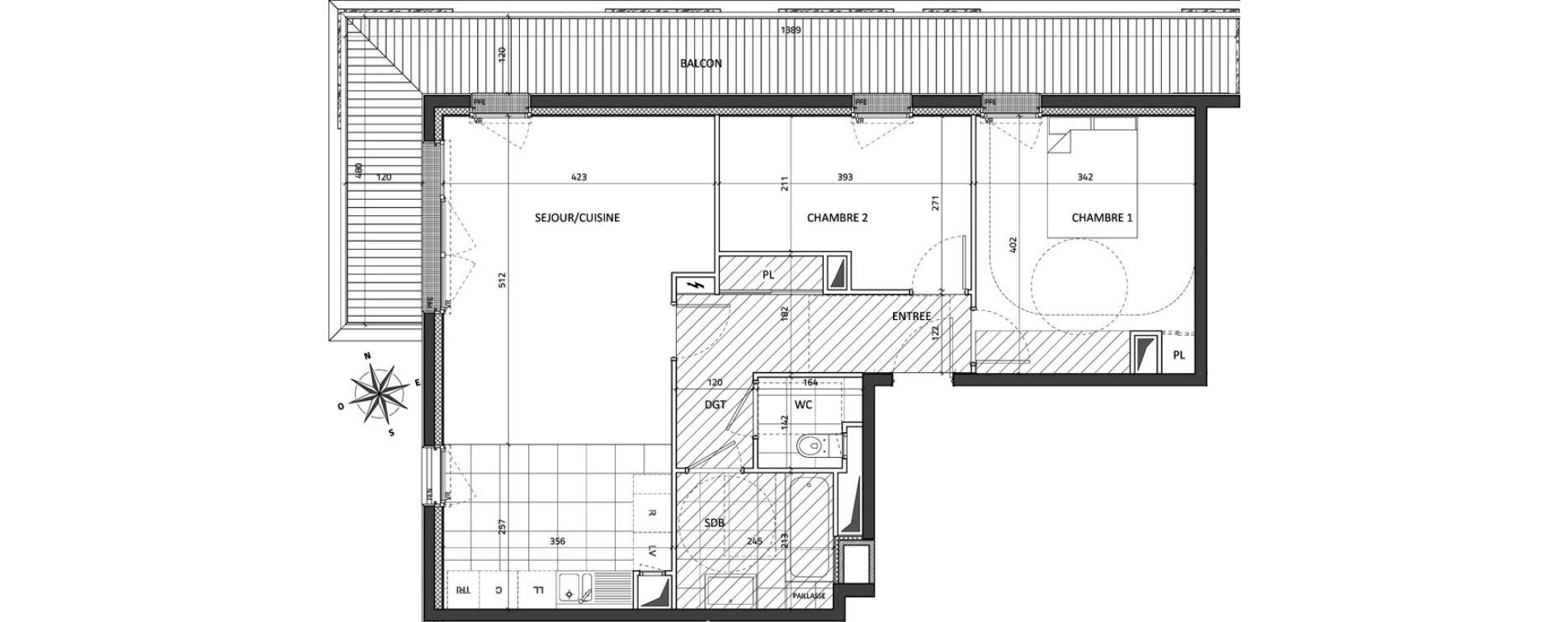 Appartement T3 de 67,18 m2 à Rueil-Malmaison Buzenval