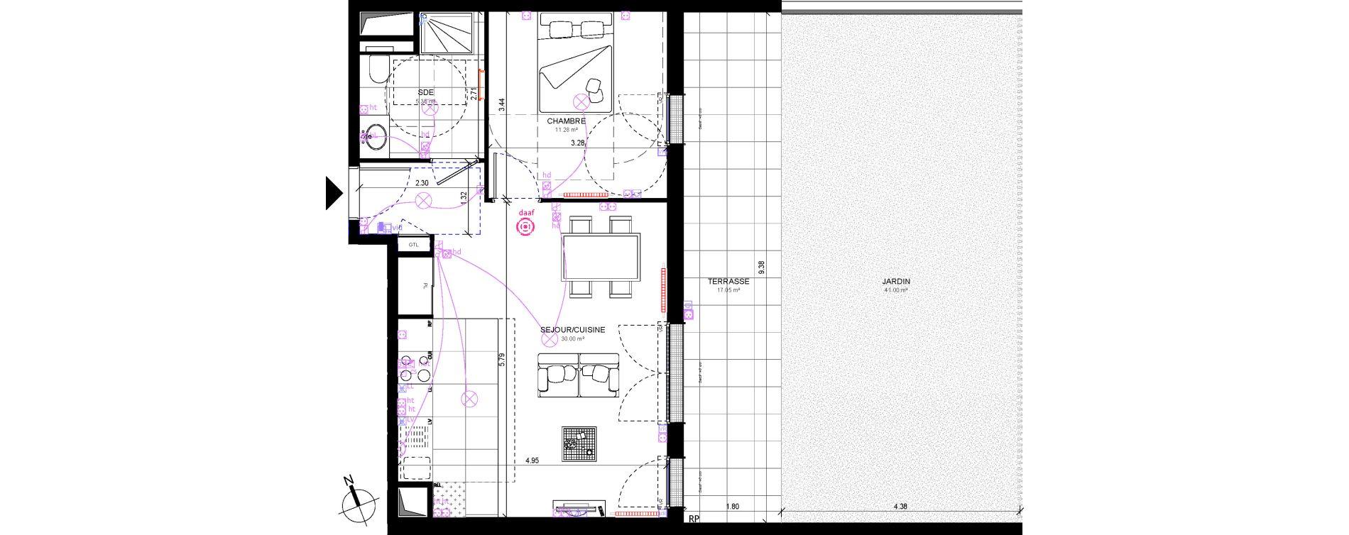 Appartement T2 De 46 63 M2 Rdc E Terrasses De La Chataigneraie Rueil Malmaison Ref 807