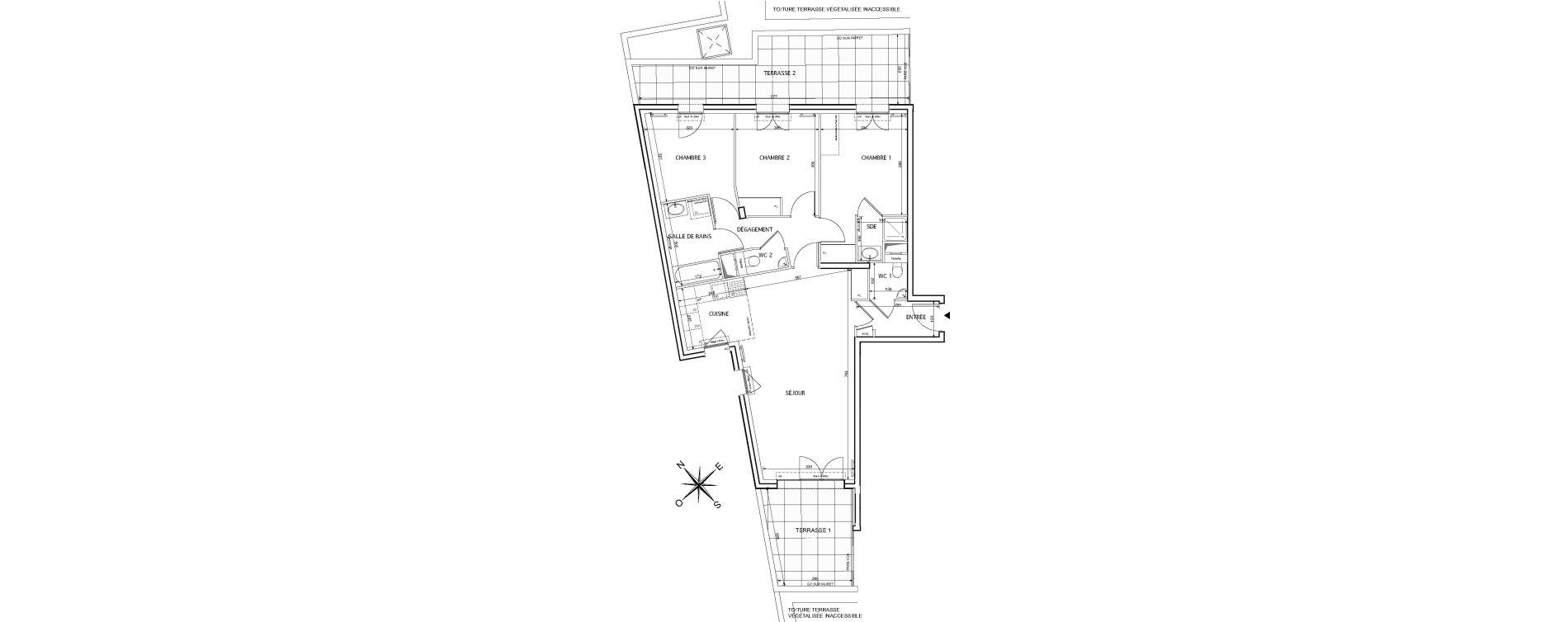 Appartement T4 de 88,08 m2 à Rueil-Malmaison Le mont-valérien