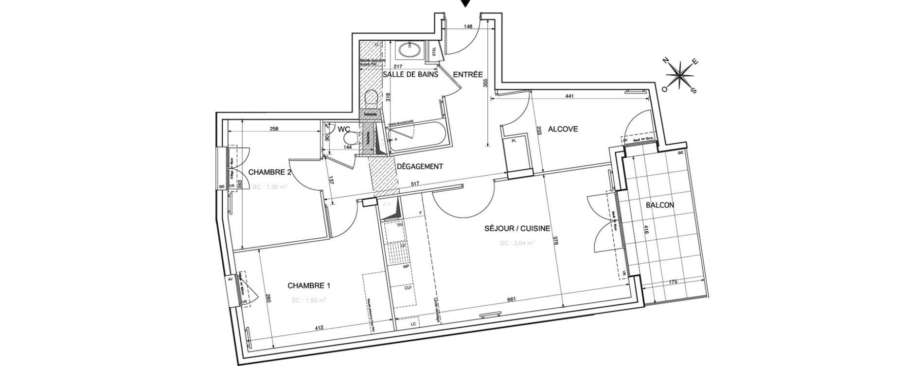 Appartement T3 de 72,34 m2 à Rueil-Malmaison Le mont-valérien