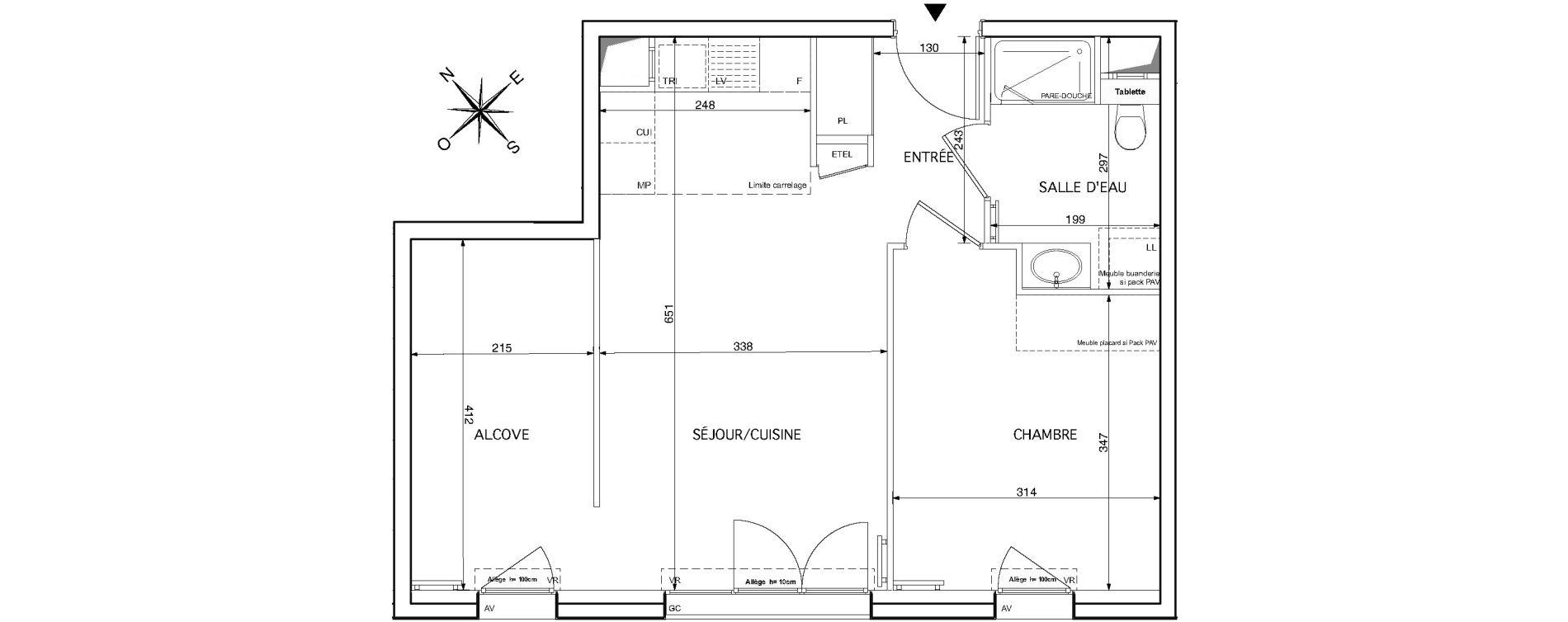 Appartement T2 de 49,90 m2 à Rueil-Malmaison Le mont-valérien