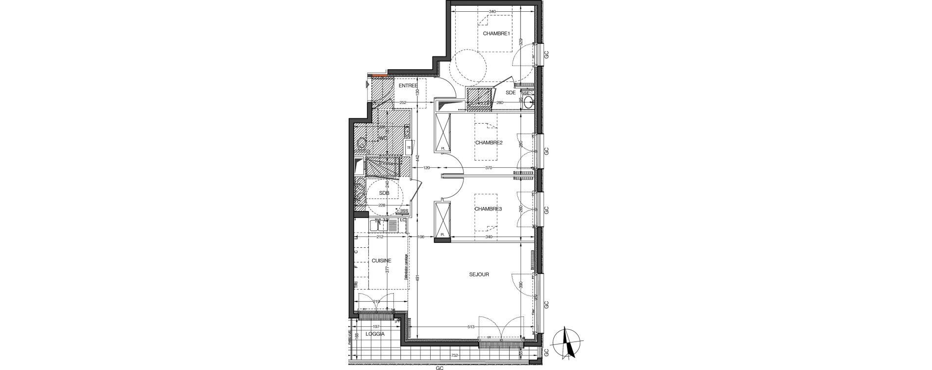 Appartement T4 de 80,17 m2 à Saint-Cloud Centre