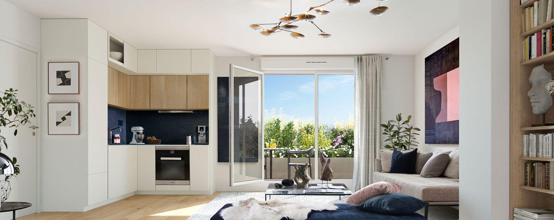Saint-Cloud : programme immobilier neuve « Onyx » en Loi Pinel (3)