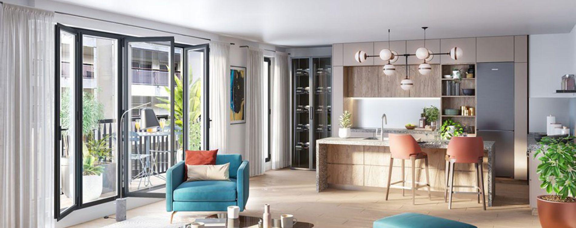 Paris : programme immobilier neuve « Belleville – Télégraphe » en Loi Pinel