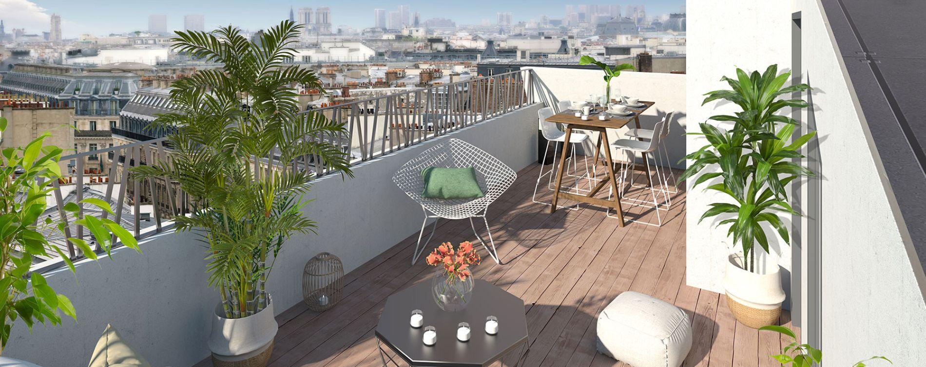 Paris : programme immobilier neuve « Le Triptyque »