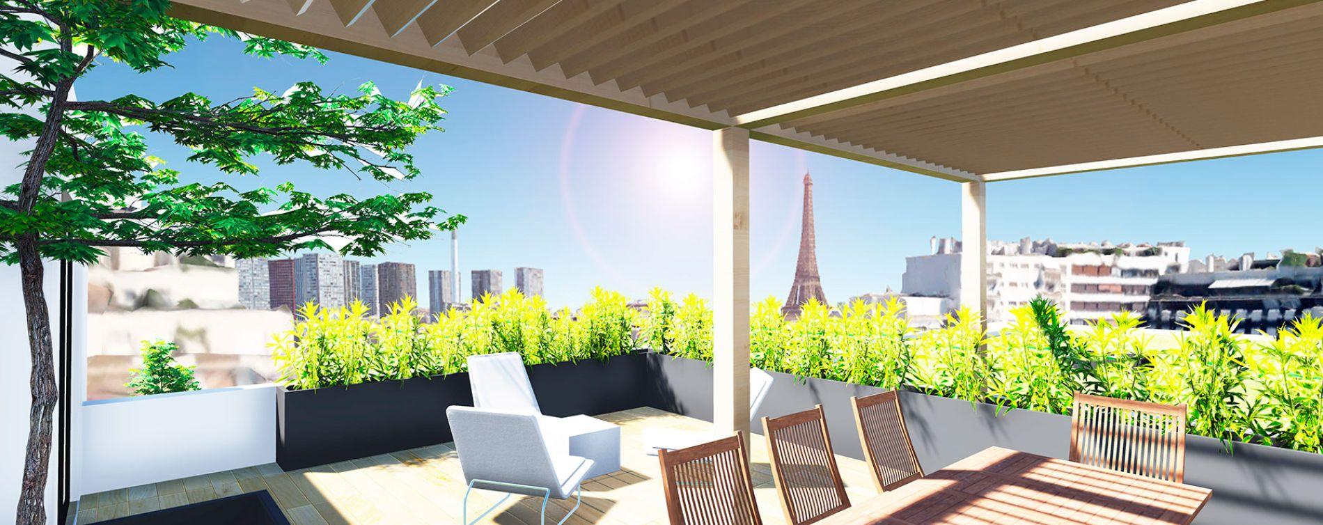 Paris : programme immobilier neuve « Résidence Desnouettes »