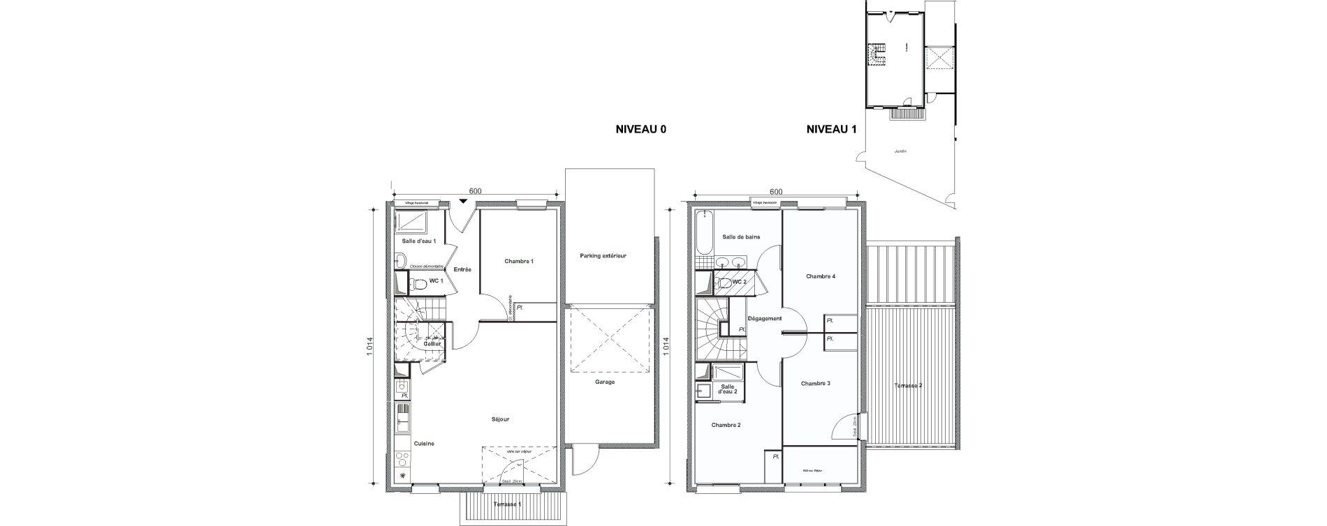 Maison T5 de 106,21 m2 à Cesson Centre