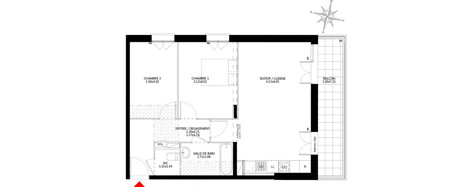 Appartement T3 de 64,55 m2 à Champs-Sur-Marne Champs sur marne nesles