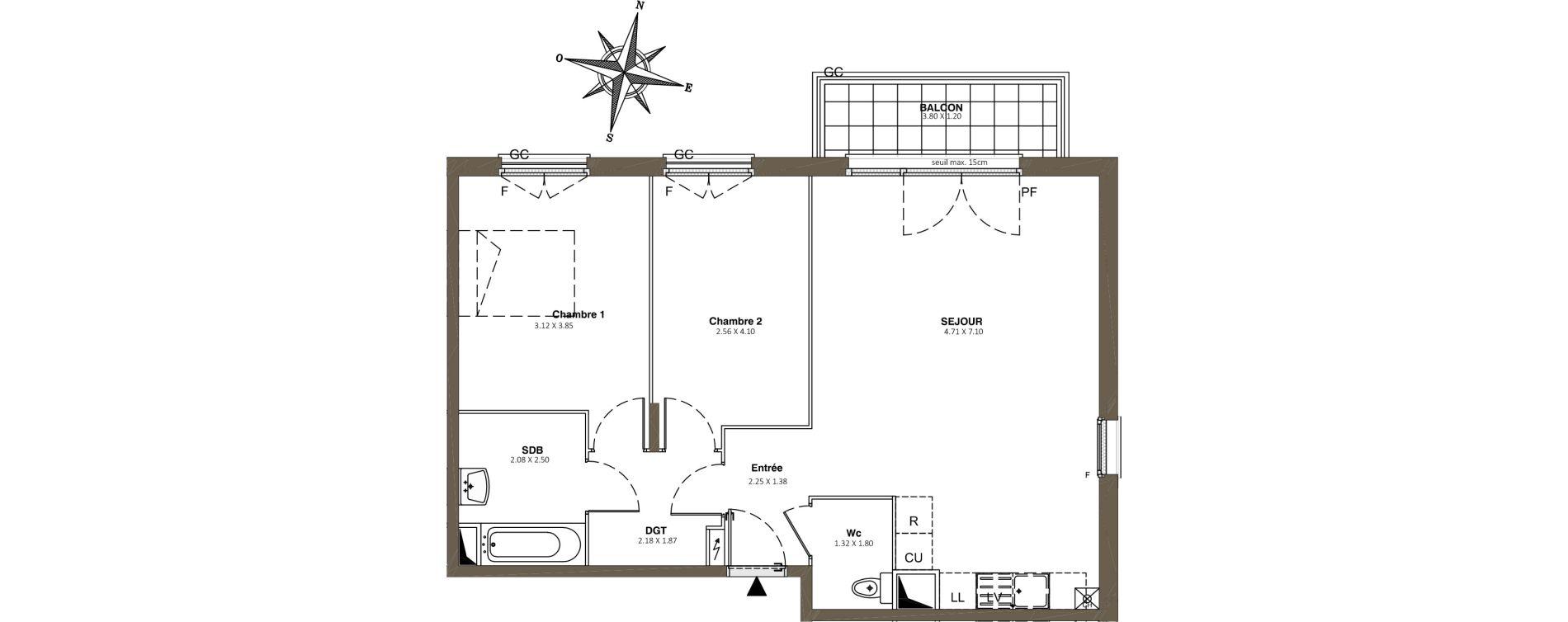 Appartement T3 de 68,06 m2 à Combs-La-Ville Centre