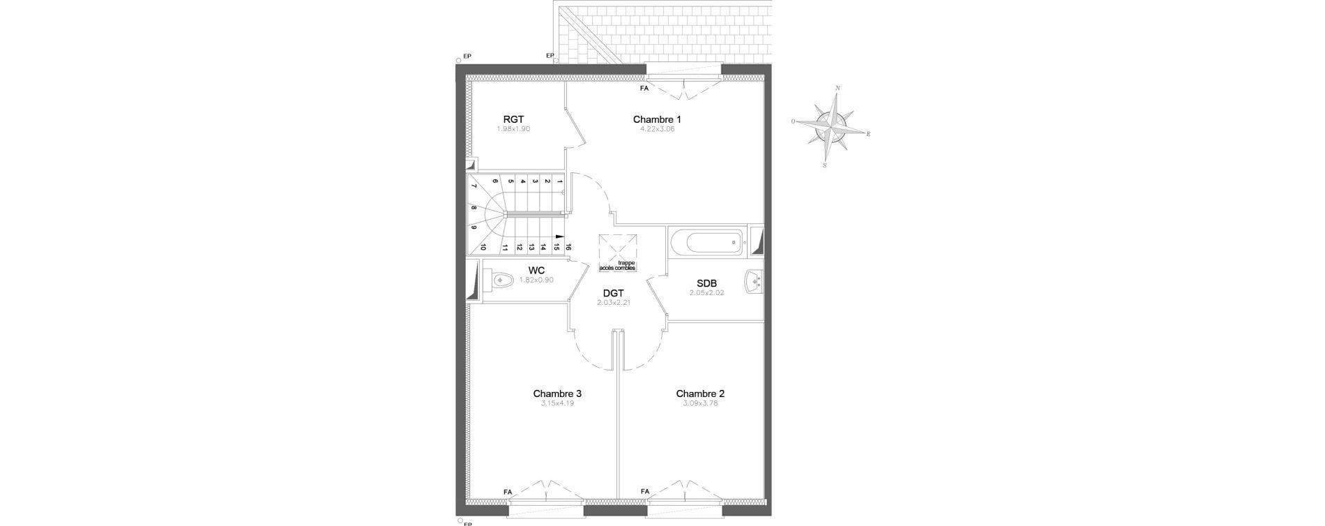 Maison T4 de 94,83 m2 à Combs-La-Ville Centre
