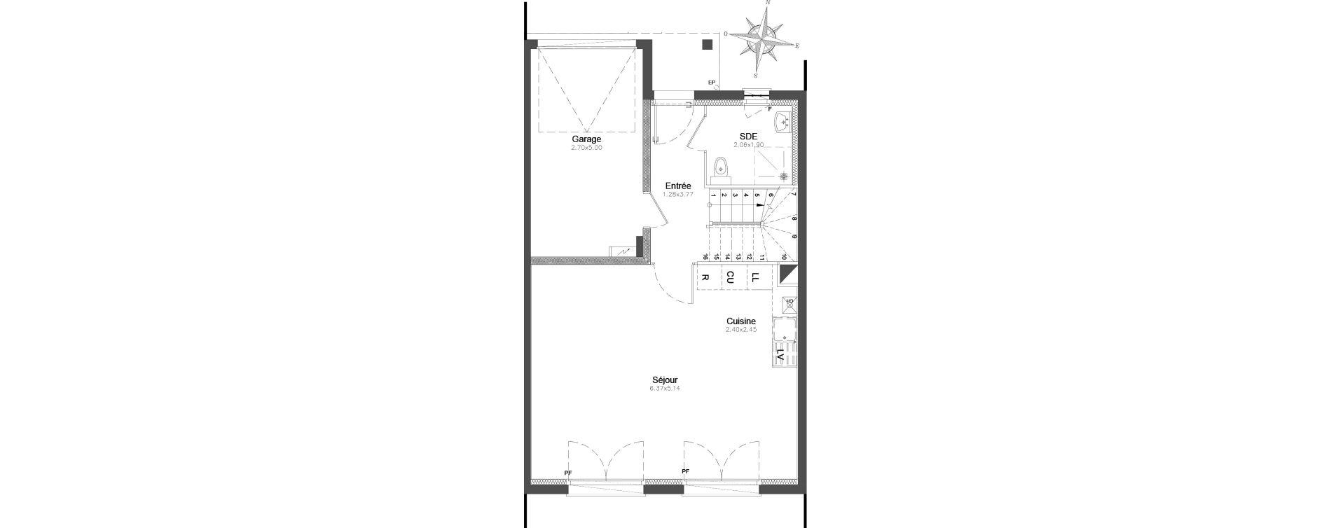 Maison T4 de 94,84 m2 à Combs-La-Ville Centre
