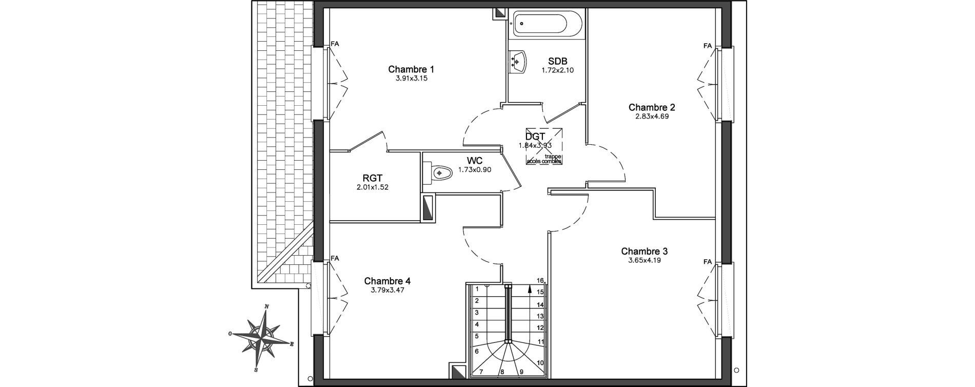 Maison T5 de 120,49 m2 à Combs-La-Ville Centre