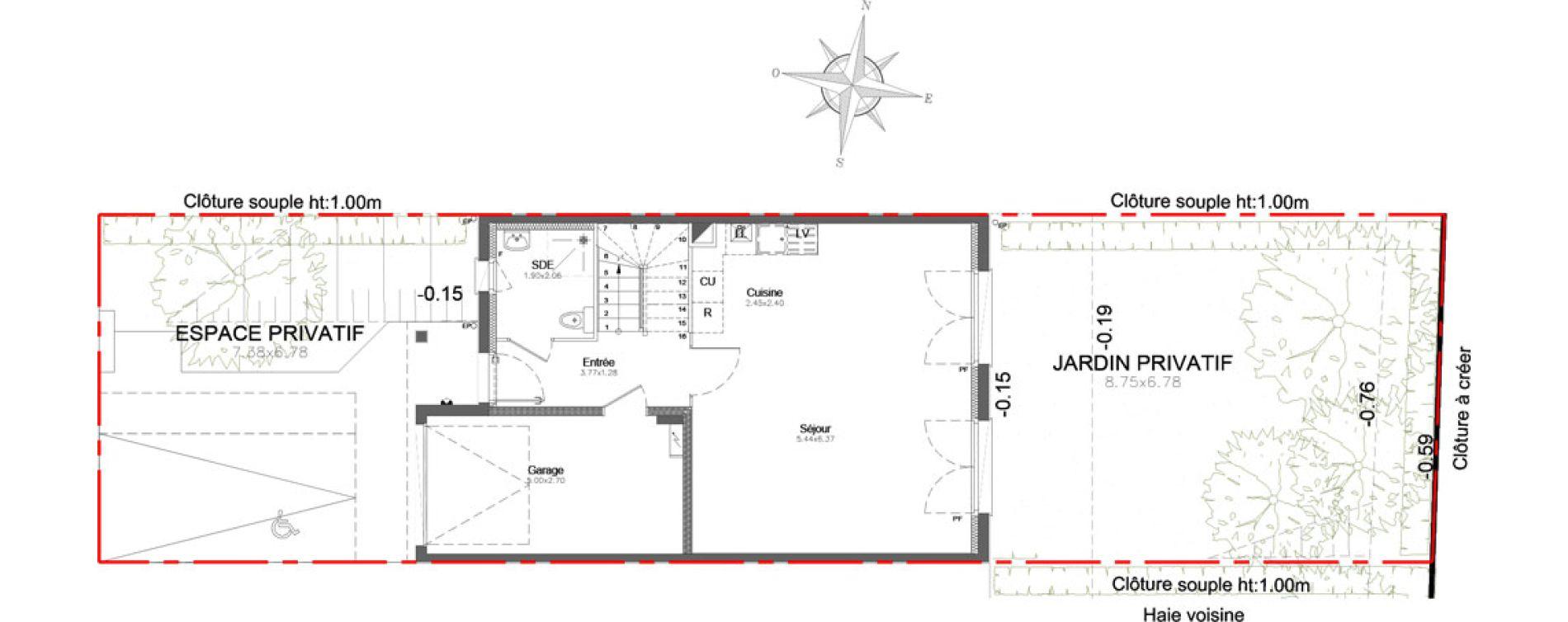 Maison T4 de 98,23 m2 à Combs-La-Ville Centre