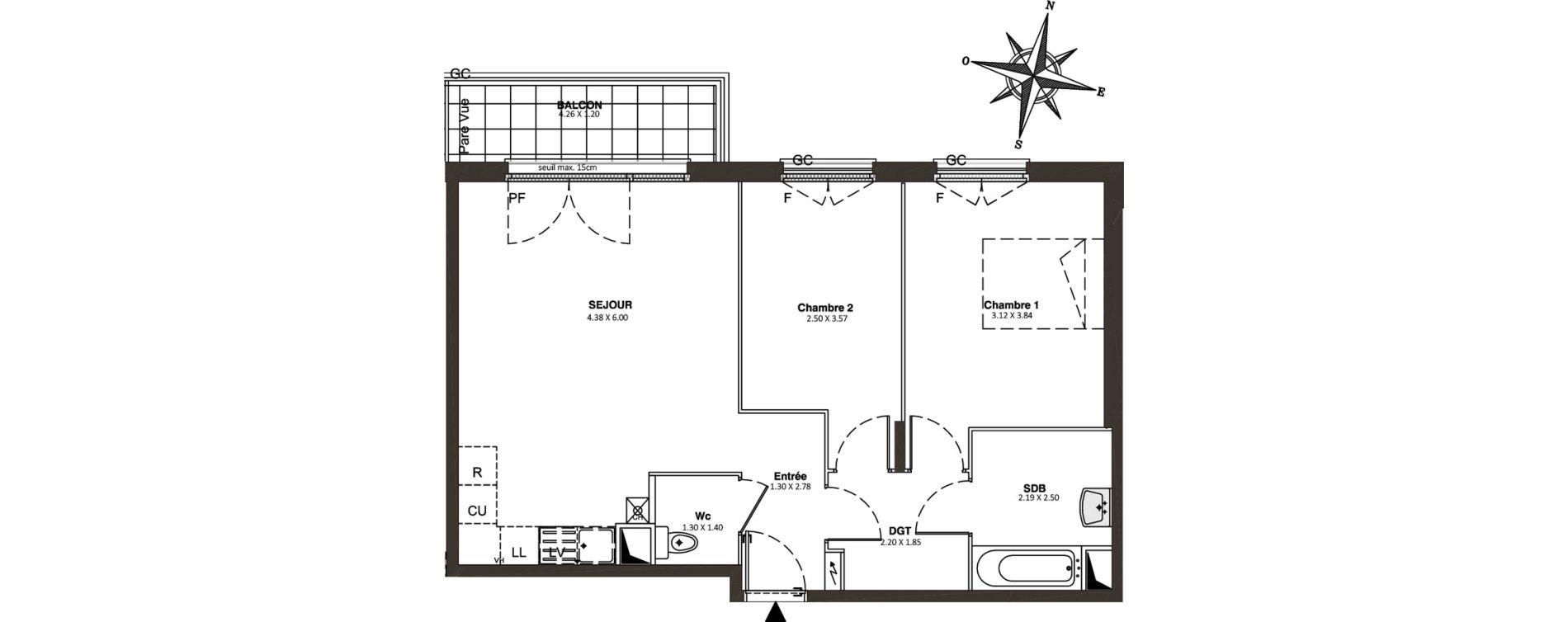 Appartement T3 de 61,05 m2 à Combs-La-Ville Centre