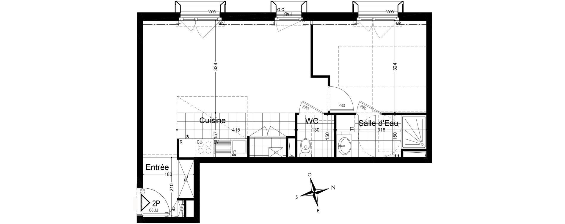 Appartement T2 de 49,13 m2 à Fontainebleau Centre