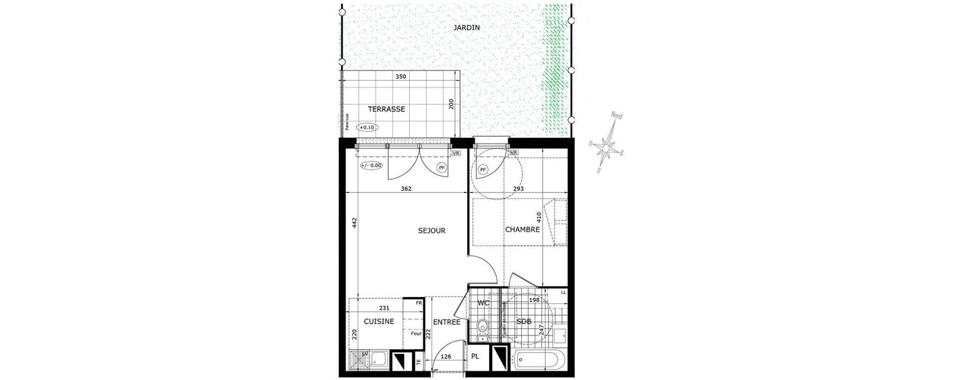 Plan T2 neuf à Gretz-Armainvilliers de