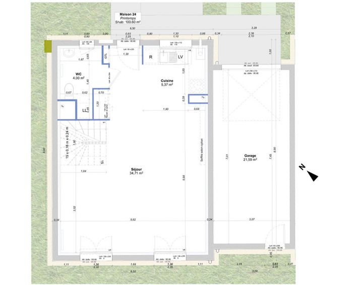Maison t5 guignes n 064 sud ouest programme for Plan maison sud ouest