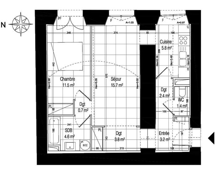 Plan T2 neuf à la Rochette de