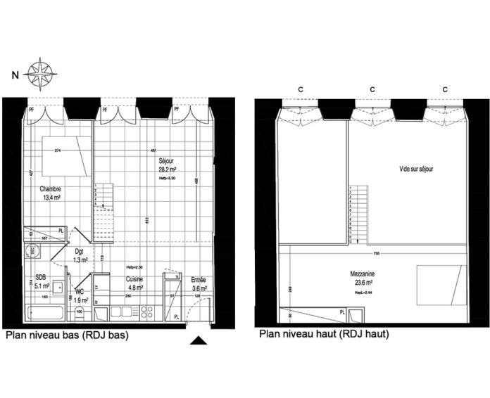 Plan T2 bis neuf à la Rochette de