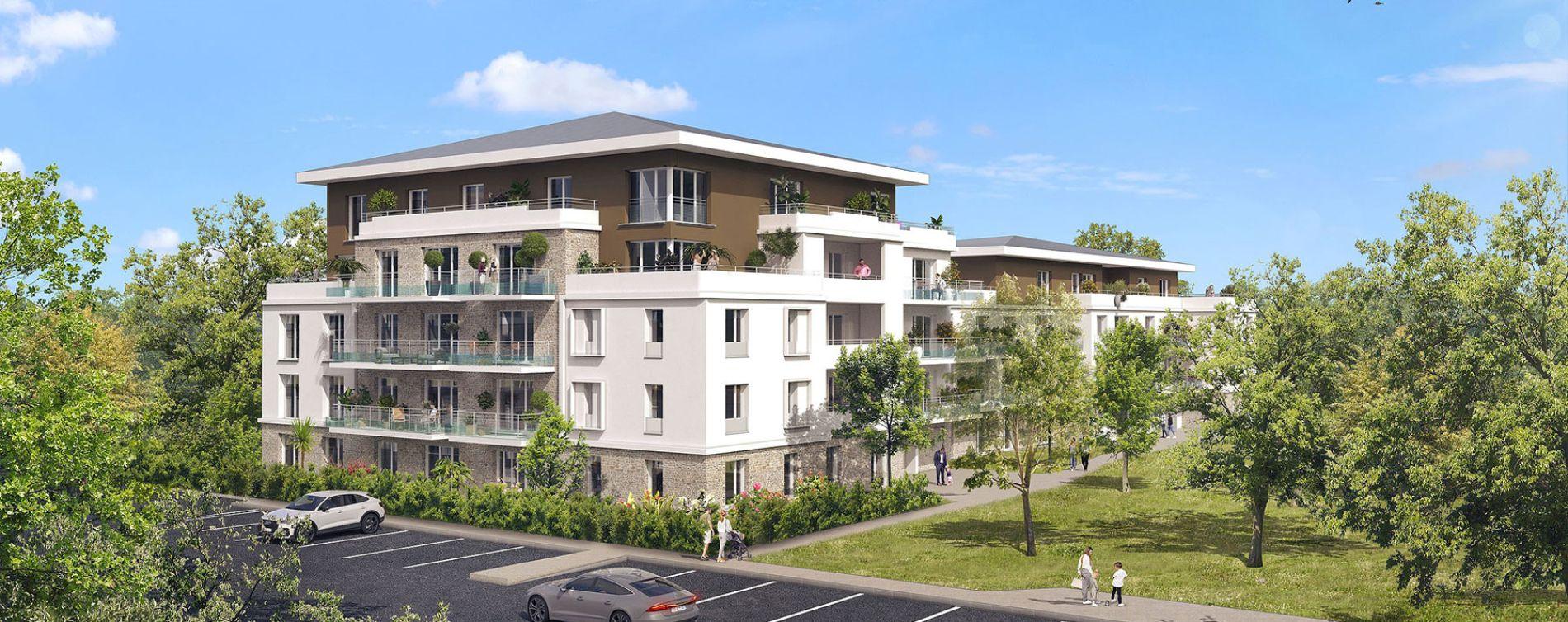 Lieusaint : programme immobilier neuve « Les Jardins du Château de la Barrière » en Loi Pinel