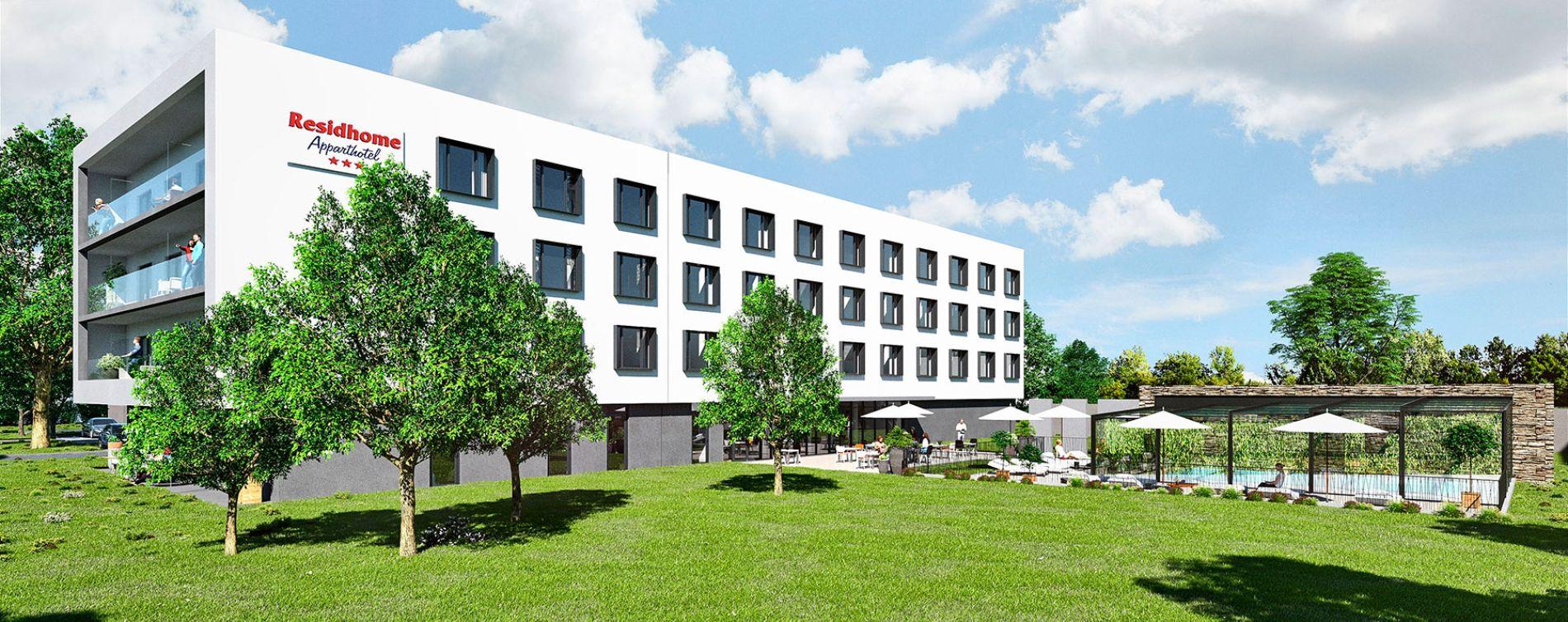 Lieusaint : programme immobilier neuve « Residhome Sénart Square »
